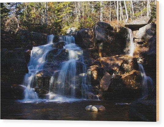 Waterfall, Whitewall Brook Wood Print