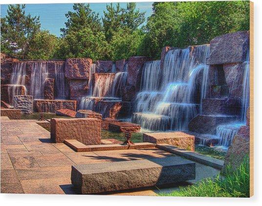 Waterfalls Fdr Memorial Wood Print