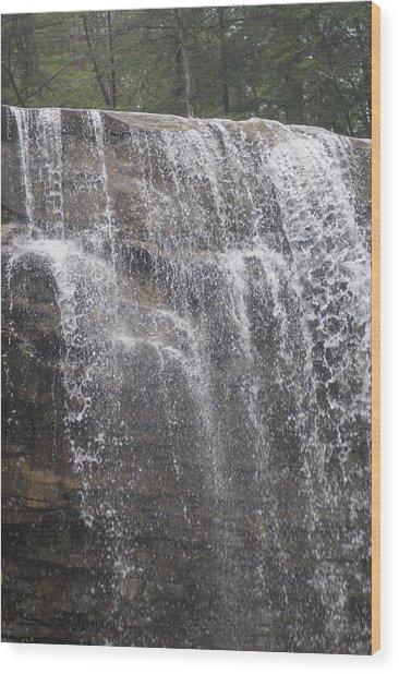 Waterfalls Wood Print by Heather Green