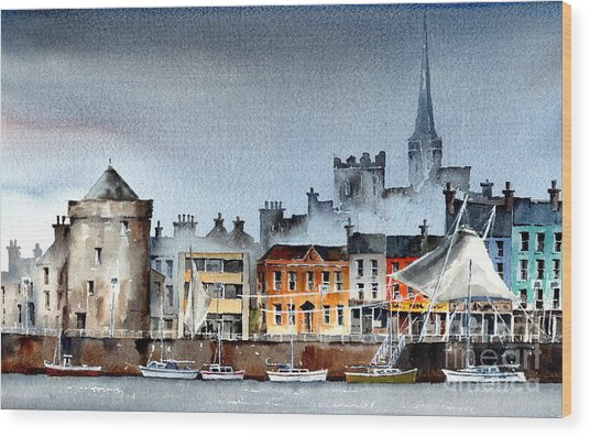 Waterford  City Quays Wood Print