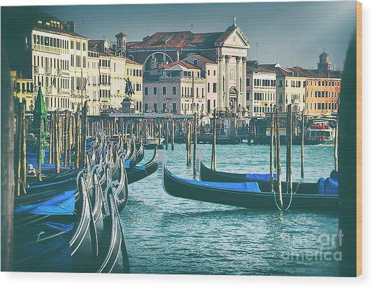 Waterfront Wood Print by Alessandro Giorgi Art Photography