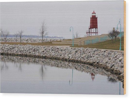 Waterfront Wood Print by Dan Holm