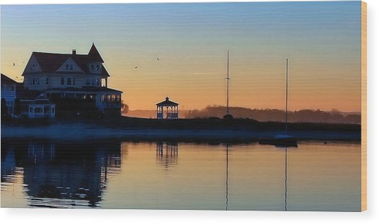 Waterfront Living Wood Print