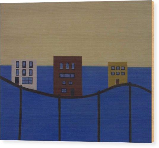 Waterfront Property Wood Print by Sandy Bostelman