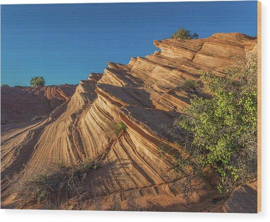 Waterhole Canyon Rock Formation Wood Print
