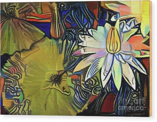 Waterlilies 1 Wood Print