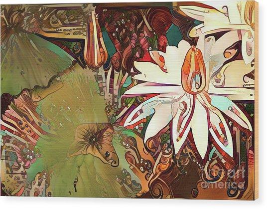 Waterlilies 11 Wood Print