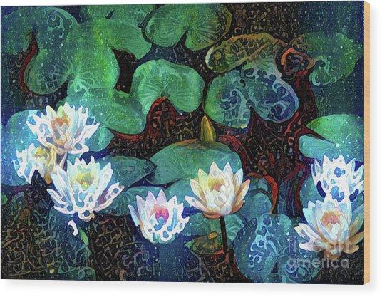 Waterlilies 17 Wood Print