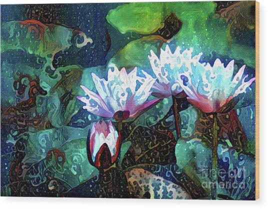 Waterlilies 18 Wood Print