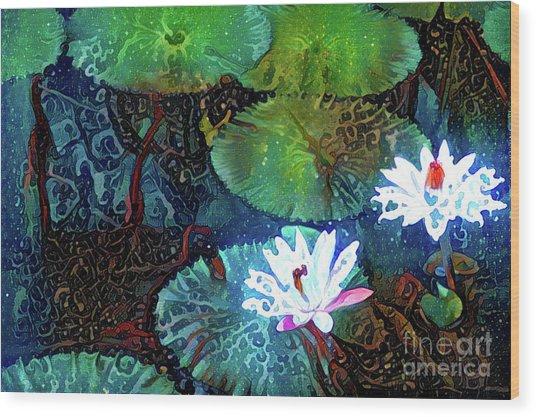 Waterlilies 19 Wood Print