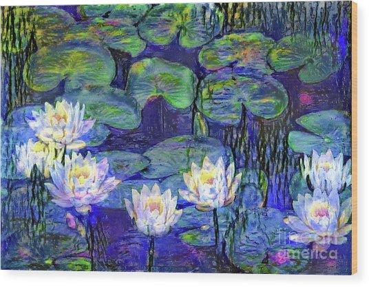 Waterlilies 4 Wood Print