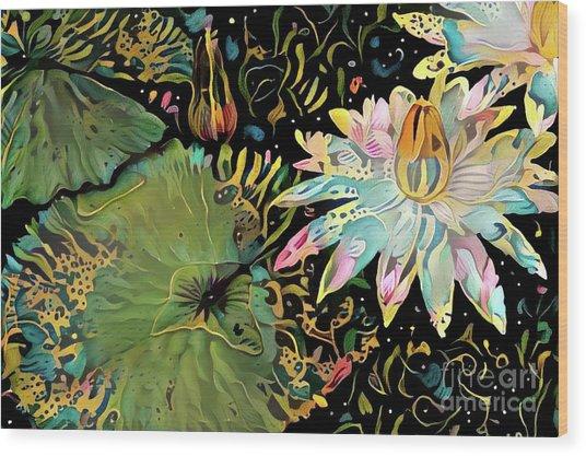 Waterlilies 5 Wood Print