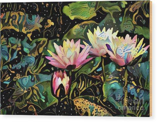 Waterlilies 7 Wood Print
