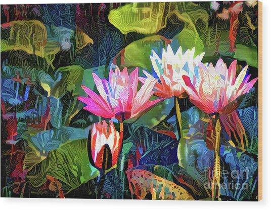 Waterlilies 8 Wood Print