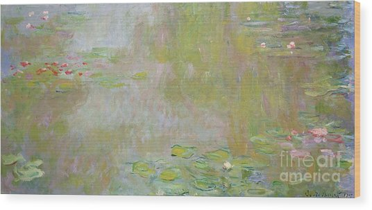 Waterlilies At Giverny Wood Print