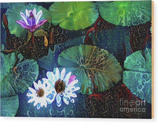 Waterlillies 15 Wood Print