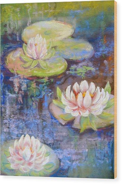 Waterlillies Wood Print