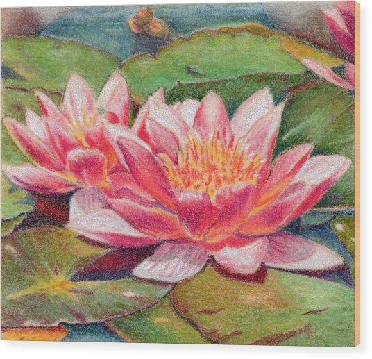 Waterlillies Wood Print by Robynne Hardison
