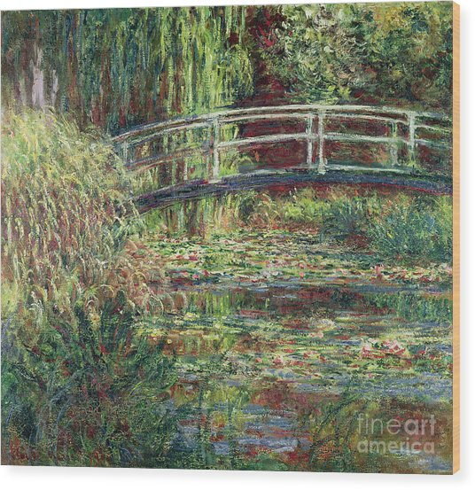 Waterlily Pond Pink Harmony 1900 Wood Print