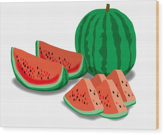 Watermelon Wood Print