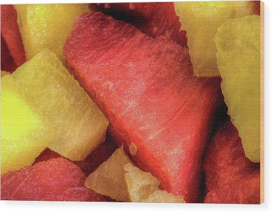 Watermelon The Summertime Treat Wood Print