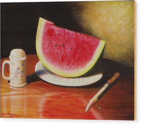Watermelon Time Wood Print