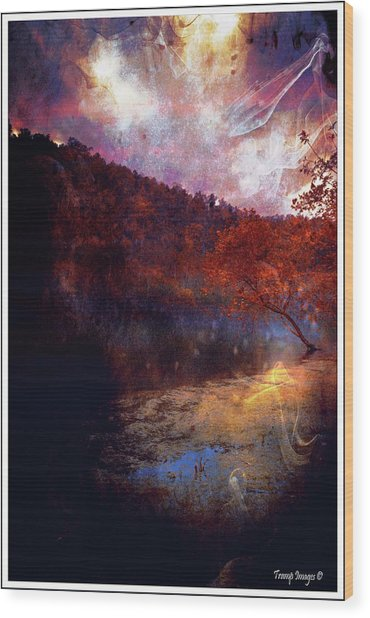 Waters Edge Wood Print