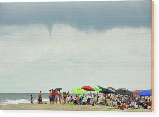 Waterspout Wood Print by JAMART Photography