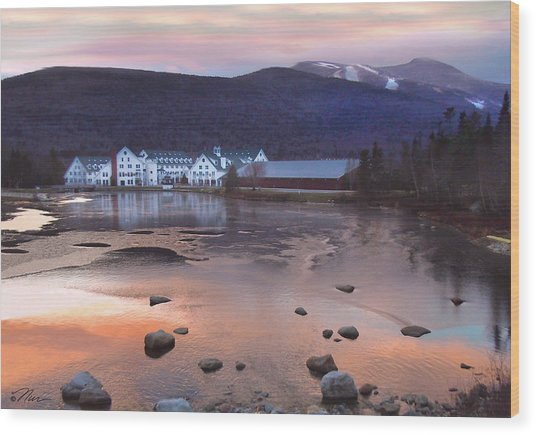 Waterville Valley Sunset Wood Print