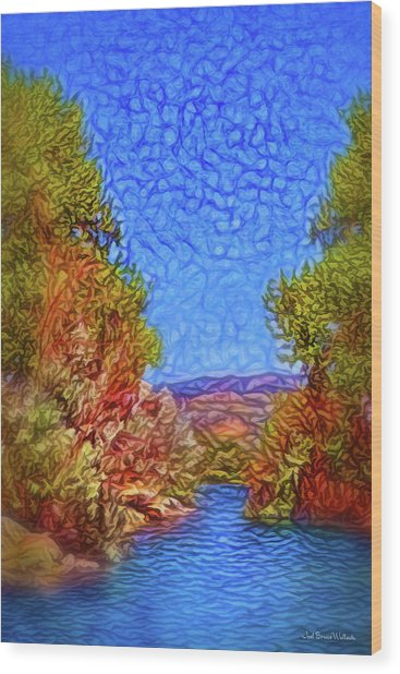 Waterway Reverie Wood Print