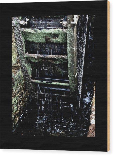 Waterwheel 1 Wood Print