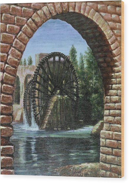 Waterwheels  Wood Print