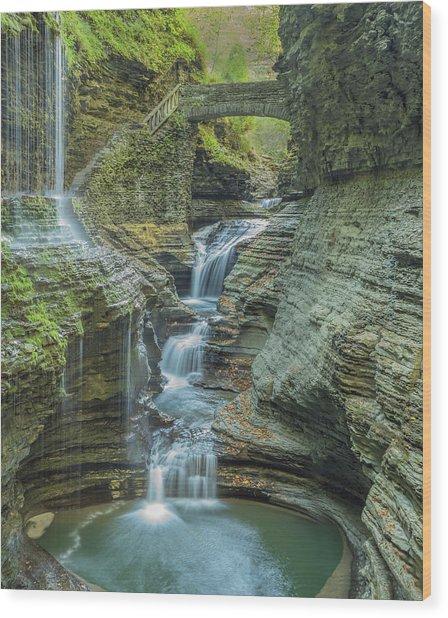 Wood Print featuring the photograph Watkins Glen 08 Panorama by Jim Dollar
