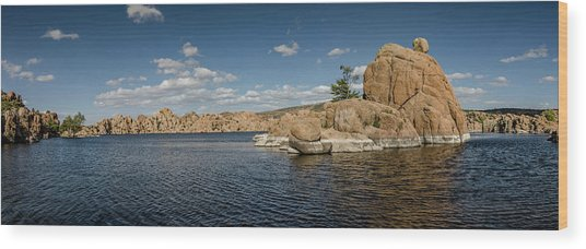 Watson Lake Panorama Wood Print