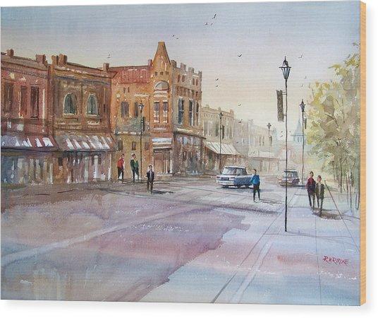 Waupaca - Main Street Wood Print