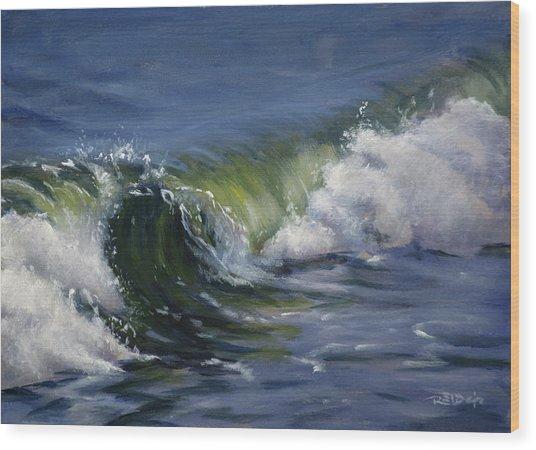 Wave 76 Wood Print