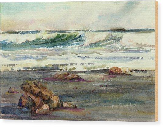 Wave Action Wood Print
