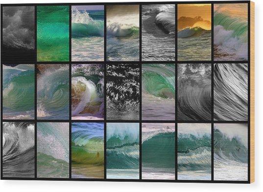 Wave Chart Wood Print