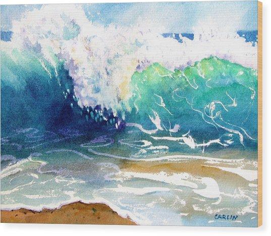 Wave Color Wood Print