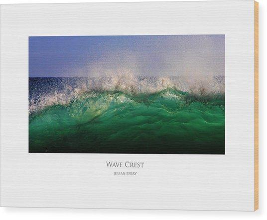 Wave Crest Wood Print