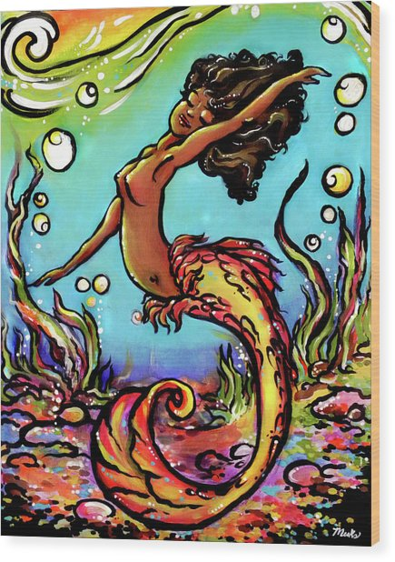 Wave Dancer  Wood Print