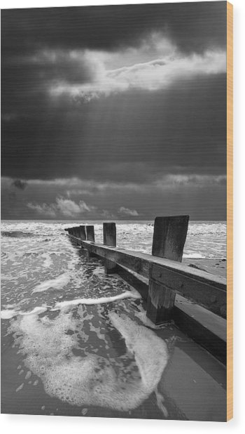 Wave Defenses Wood Print