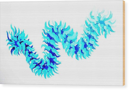 Wave Wood Print by Jacqueline Doulis