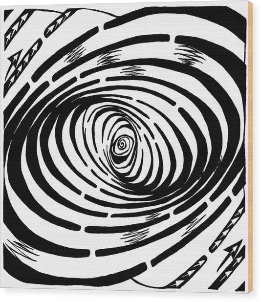 Wave Swirl Maze Wood Print by Yonatan Frimer Maze Artist