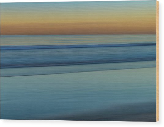 Wave Tracks 3 Wood Print