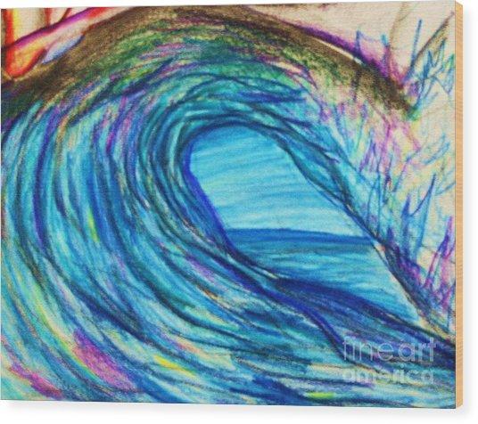 Wave Variation Wood Print by Jamey Balester