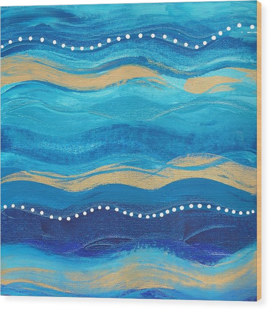Waves Of Grace  Wood Print