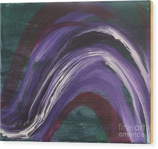 Waves Of Grace Wood Print