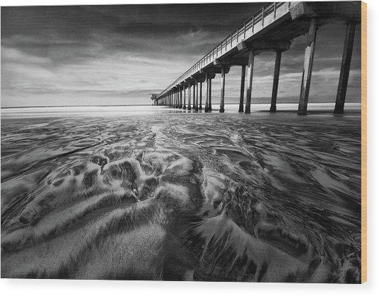 Waves Of Sand Wood Print