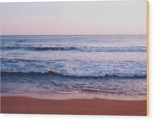 Waves On The Beach 2 Wood Print by Lyle Crump